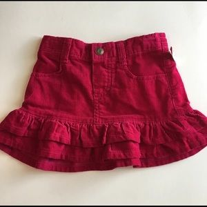 New! Girls 24mo fall corduroy ruffled tiered skirt